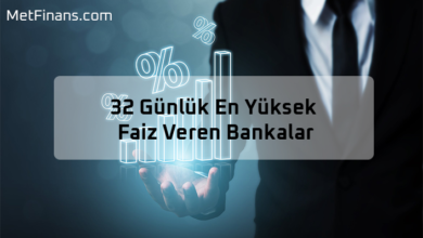Photo of 32 Günlük En Yüksek Faiz Veren Bankalar