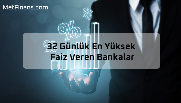 32 Günlük En Yüksek Faiz Veren Bankalar