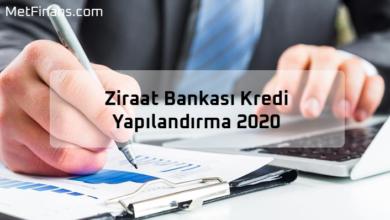 Photo of Ziraat Bankası Kredi Yapılandırma 2020