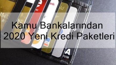 Photo of Kamu Bankalarından 2020 Yeni Kredi Paketleri