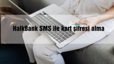 HalkBank SMS ile kart şifresi alma